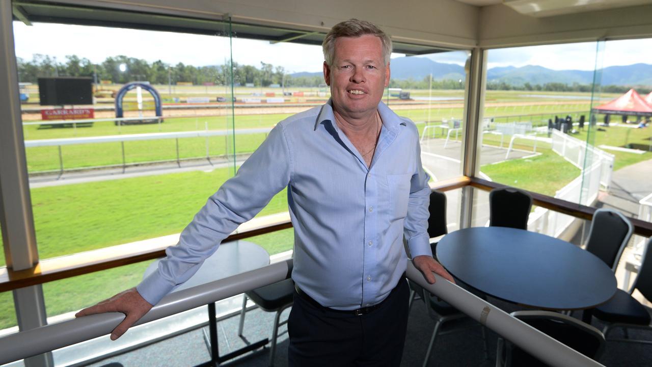 Tony Fenlon from the Rockhampton Jockey Club at Callaghan Park.