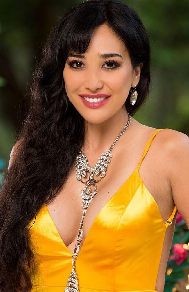 Juliette Herrera left The Bachelor last night. Picture: Channel 10