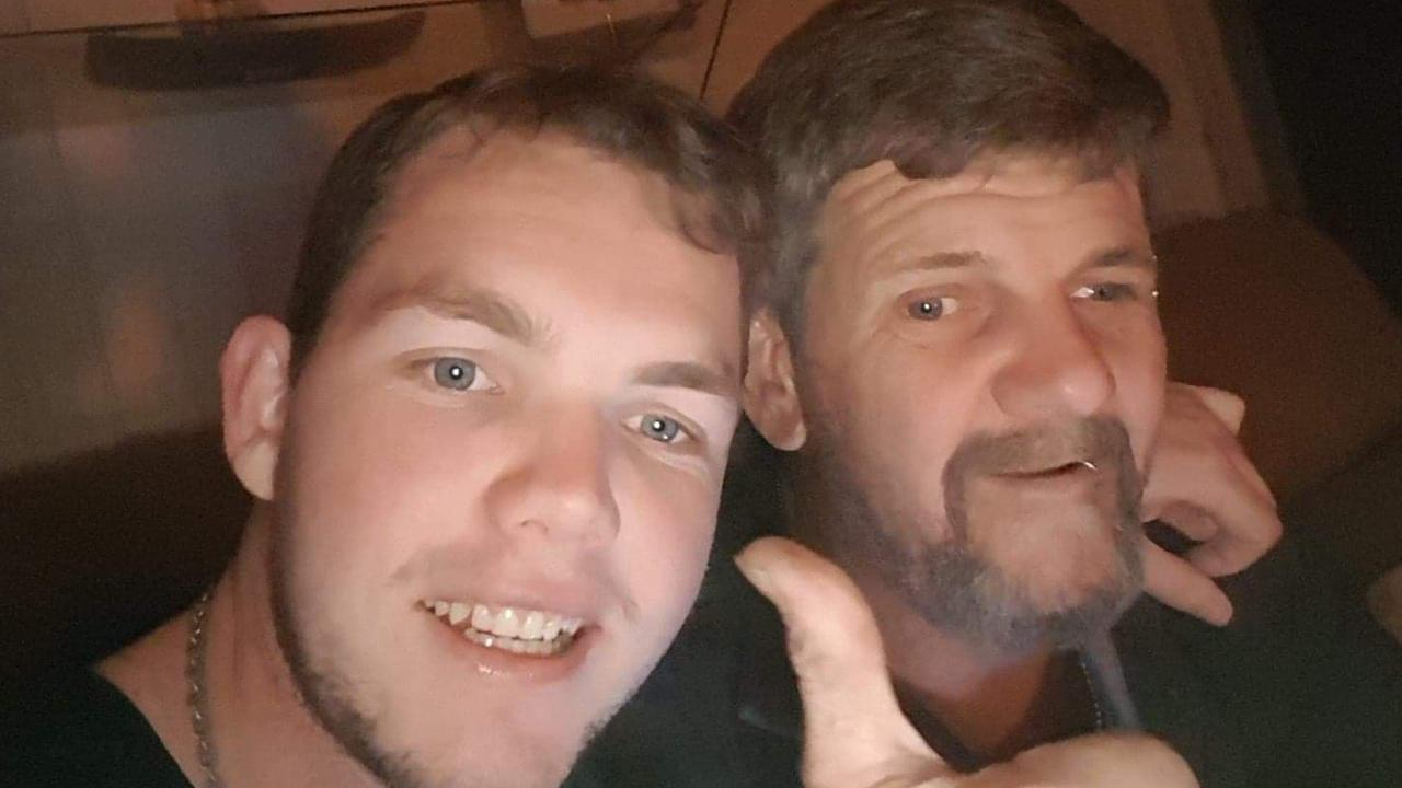Alleged murder victim Mark Ireland (right) with his son, Matthew.