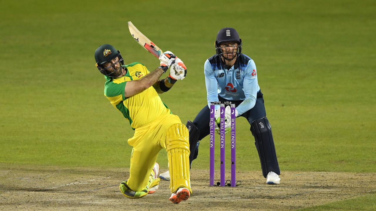 Glenn Maxwell has had no trouble reaching the short boundaries. (Photo by Stu Forster/Getty Images for ECB)