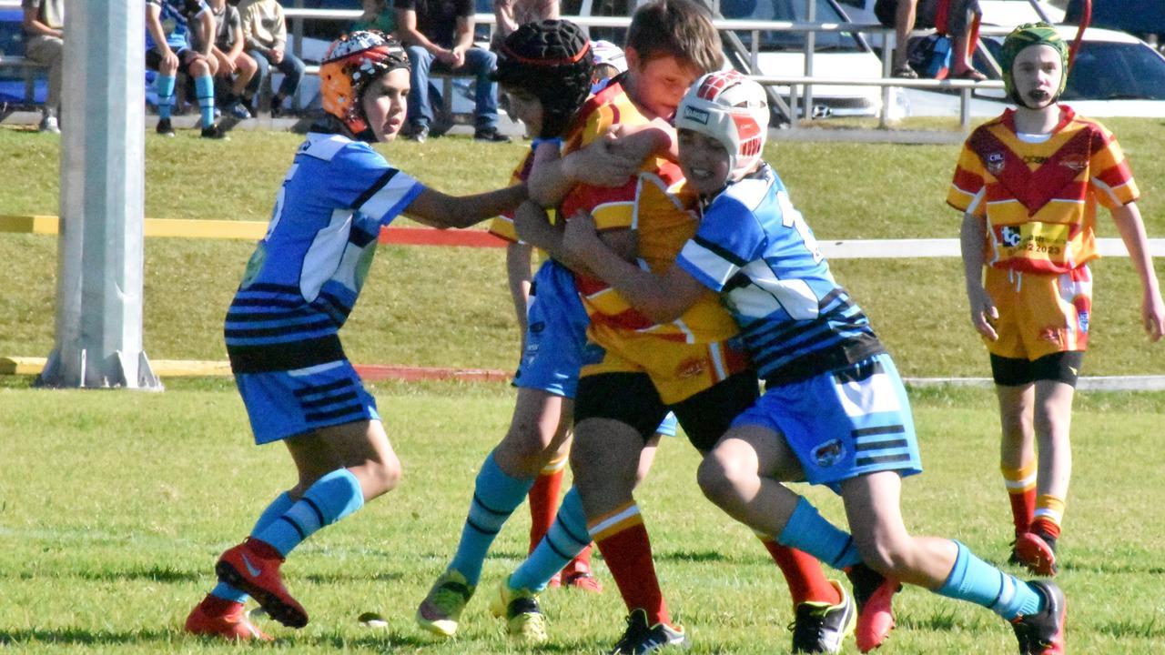 Coffs Comets take on Woolgoolga Junior Seahorses in the under 11's at Geoff King Oval earlier in the season.