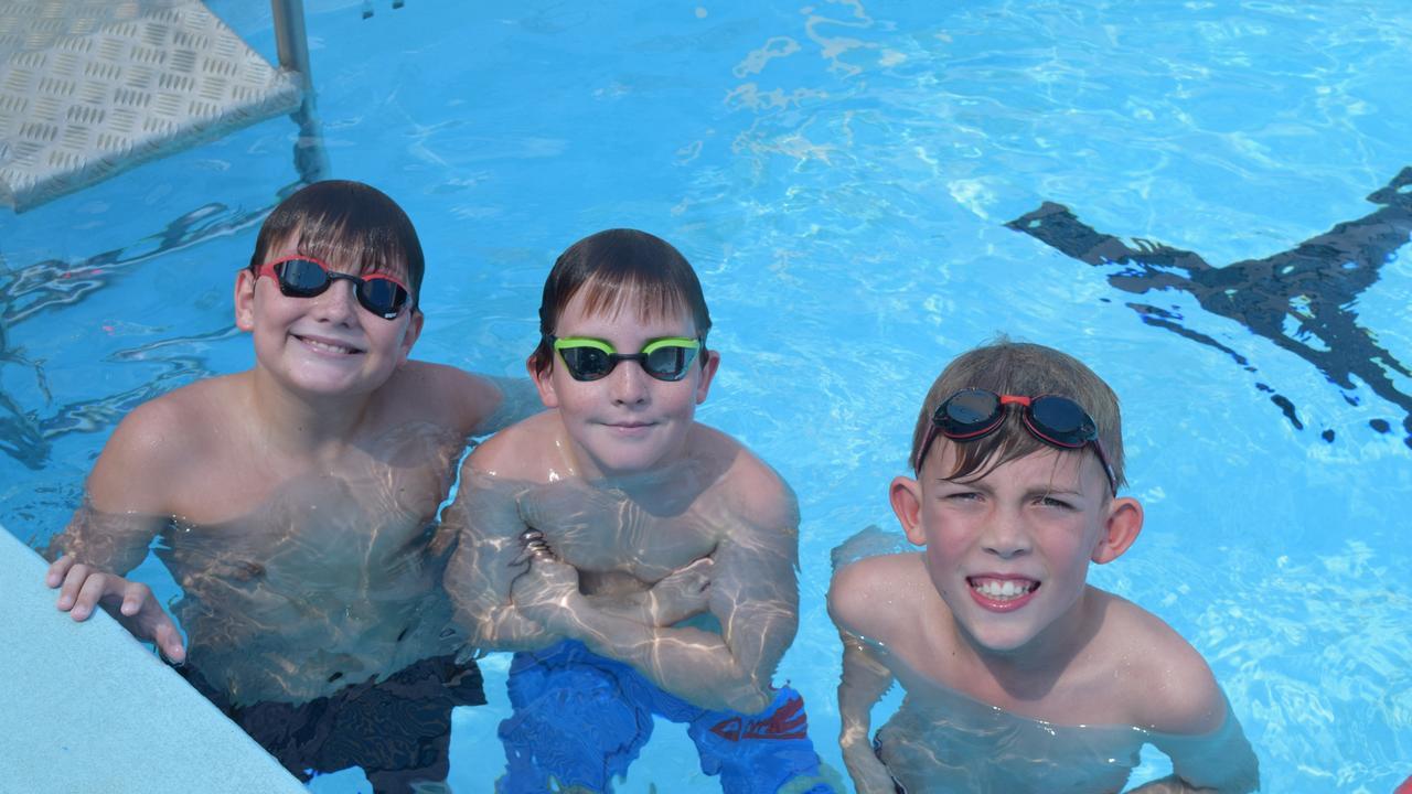 Kingaroy swimmers, Harvey Sawtell, Matty Raddacliff and Nicholas Shailer. (Picture: File)