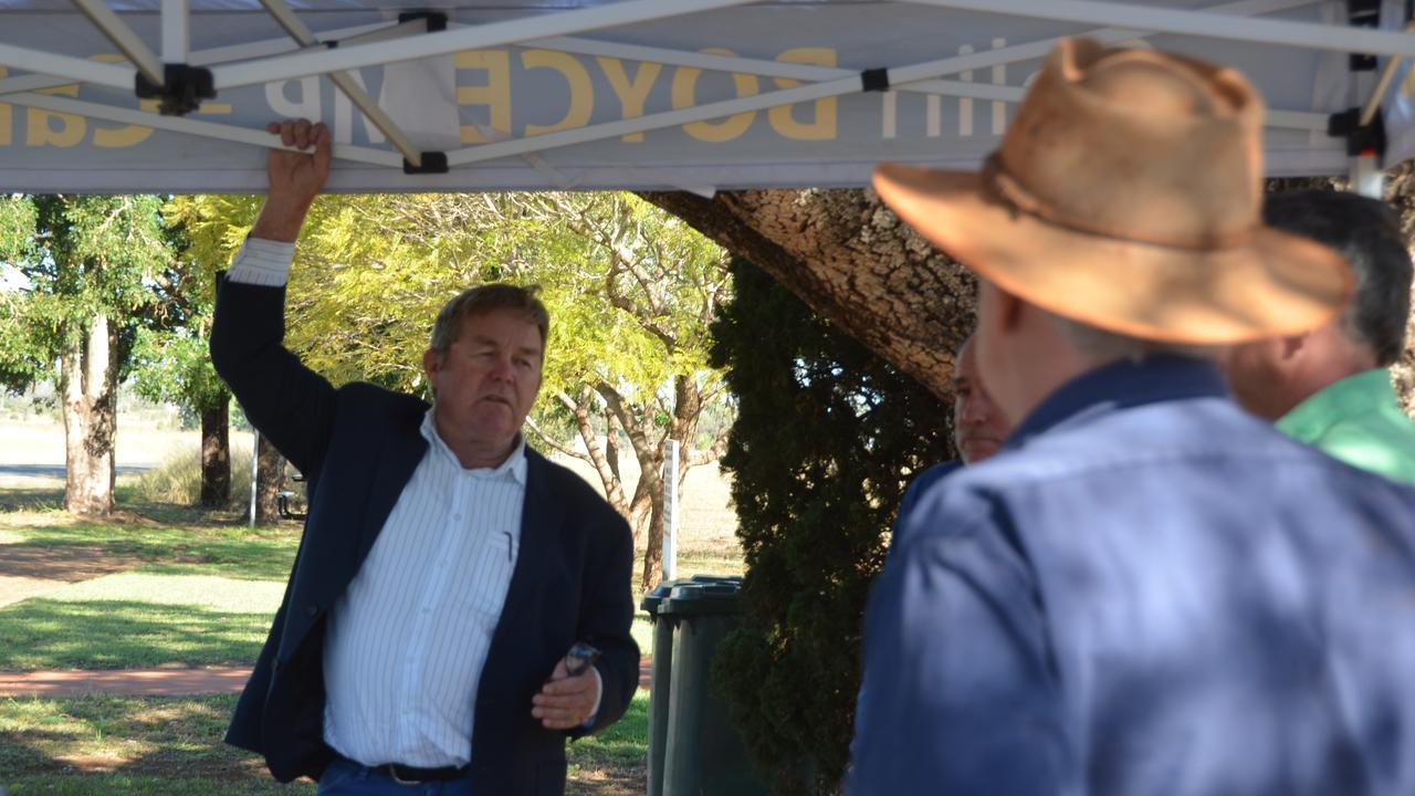 VOTE: State MP for Callide Colin Boyce on his regional roadside tour. Picture: Sam Turner