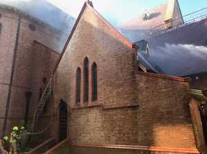 PHOTOS: Fireys' desperate efforts to save Lismore cathedral
