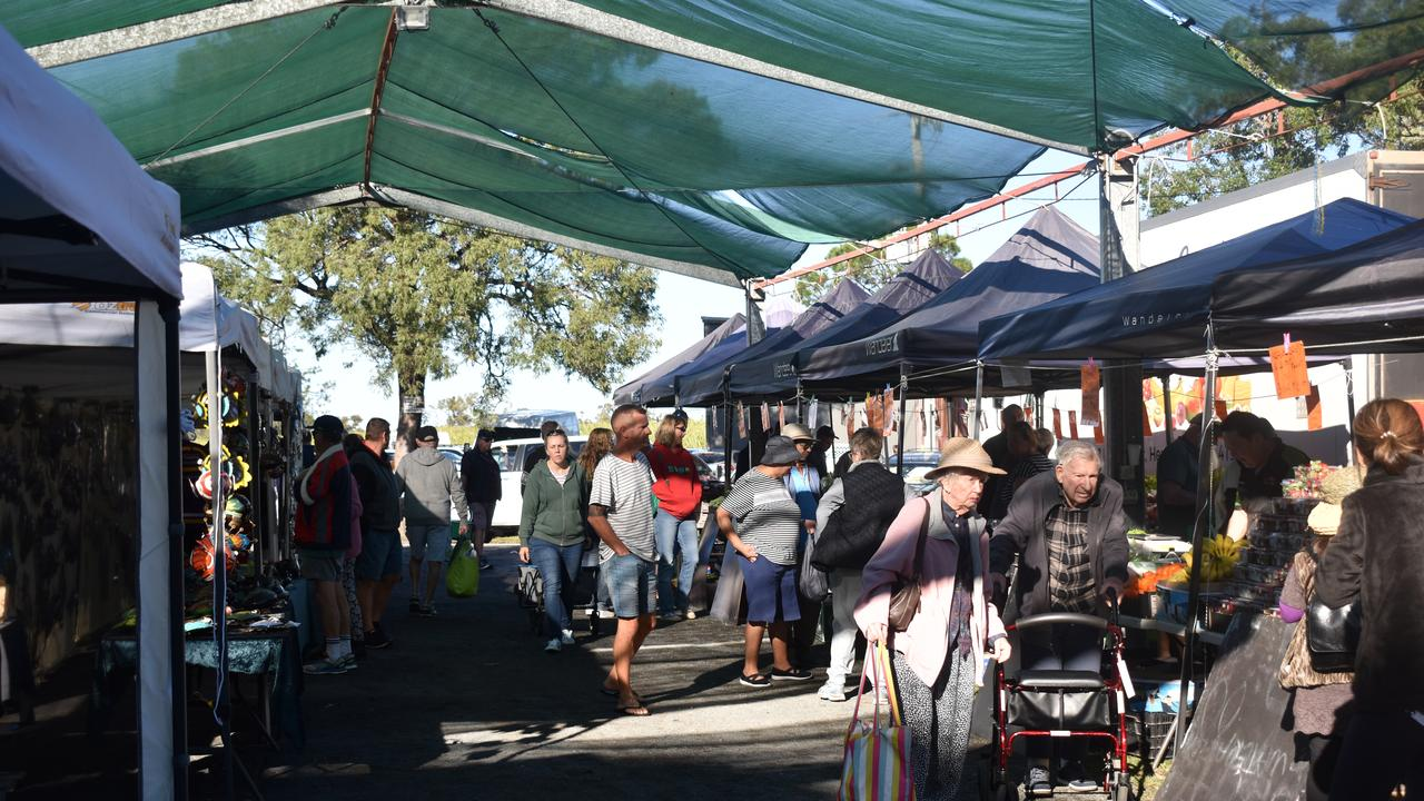 NIKENBAH MARKETS: Fraser Coast residents turn out to the Nikenbah Markets. Photo: Stuart Fast