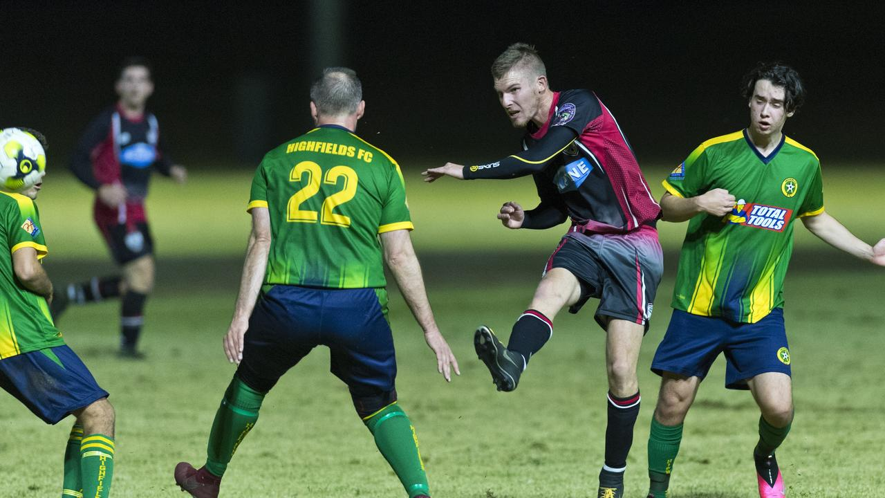 LADDER LEADING CLASH: The Stanthorpe United Redbacks will compete to retain their top spot against the Rockville Rovers this weekend. Picture: Kevin Farmer