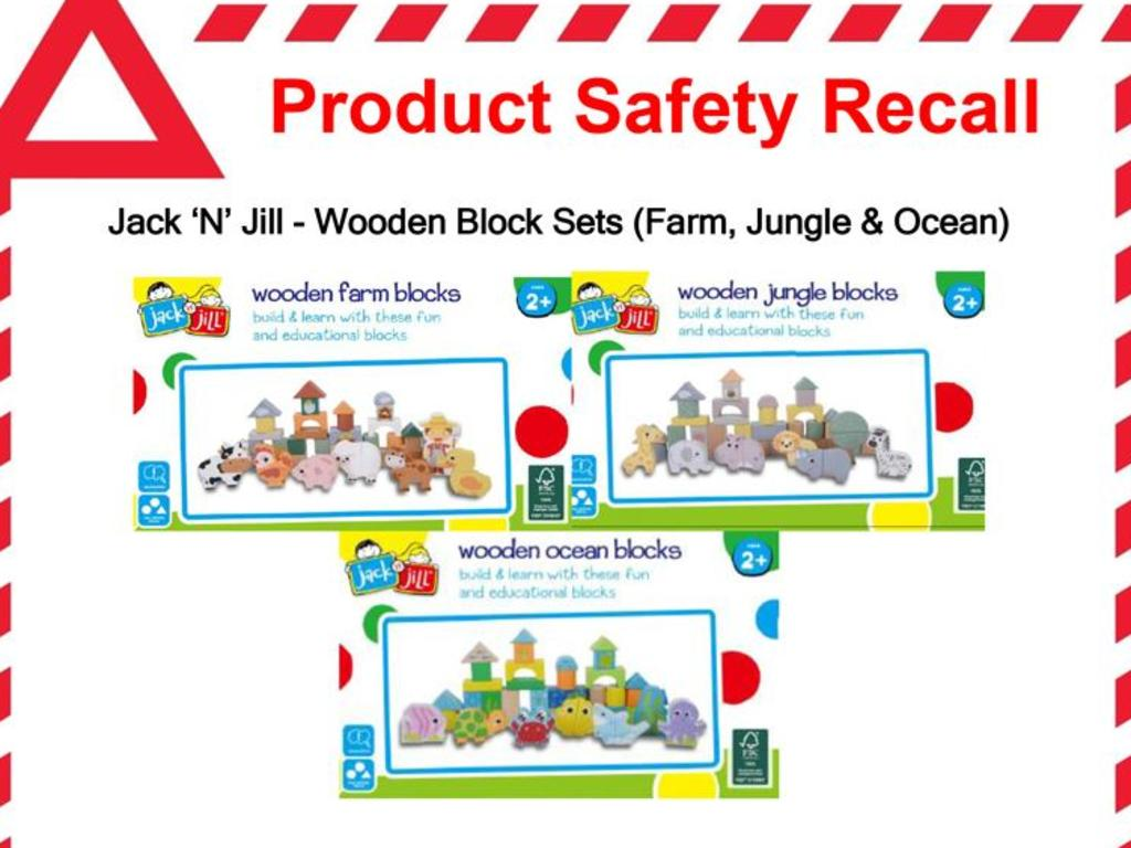 Aldi has issued a recall on the popular children's blocks. Picture: Facebook/Aldi Australia
