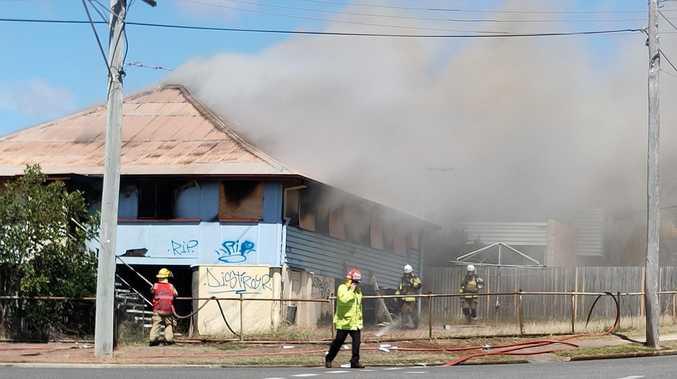 PHOTOS: Firefighters battle Barney Point house fire