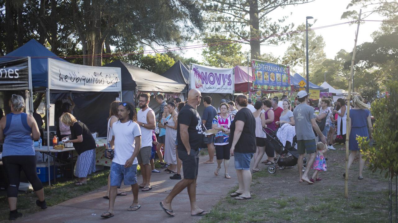 Twilight Food Markets at Park Beach Reserve, taken in 2019. Photo: Rachel Vercoe