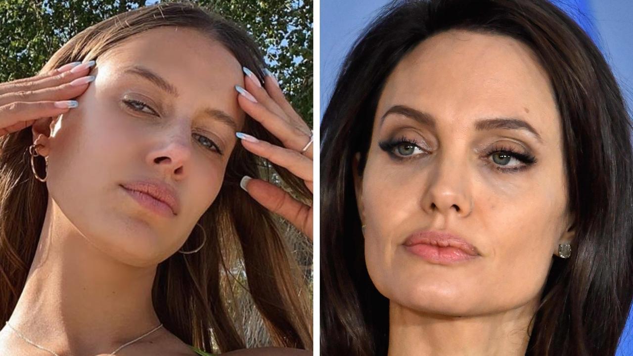 Brad Pitt's new girlfriend, model Nicole Poturalski, has denied there's any bad blood between herself and Pitt's ex Angelina Jolie.