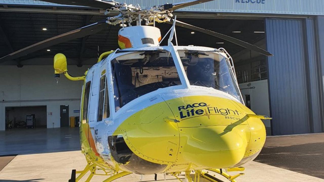 Bundaberg's RACQ LifeFlight Rescue helicopter.