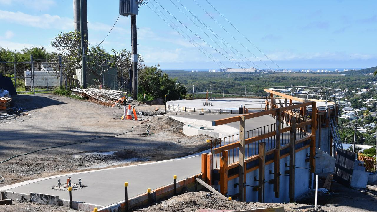 Mackay Regional Council said the North Mackay Rotary Lookout was delayed further in August. Picture: Tony Martin