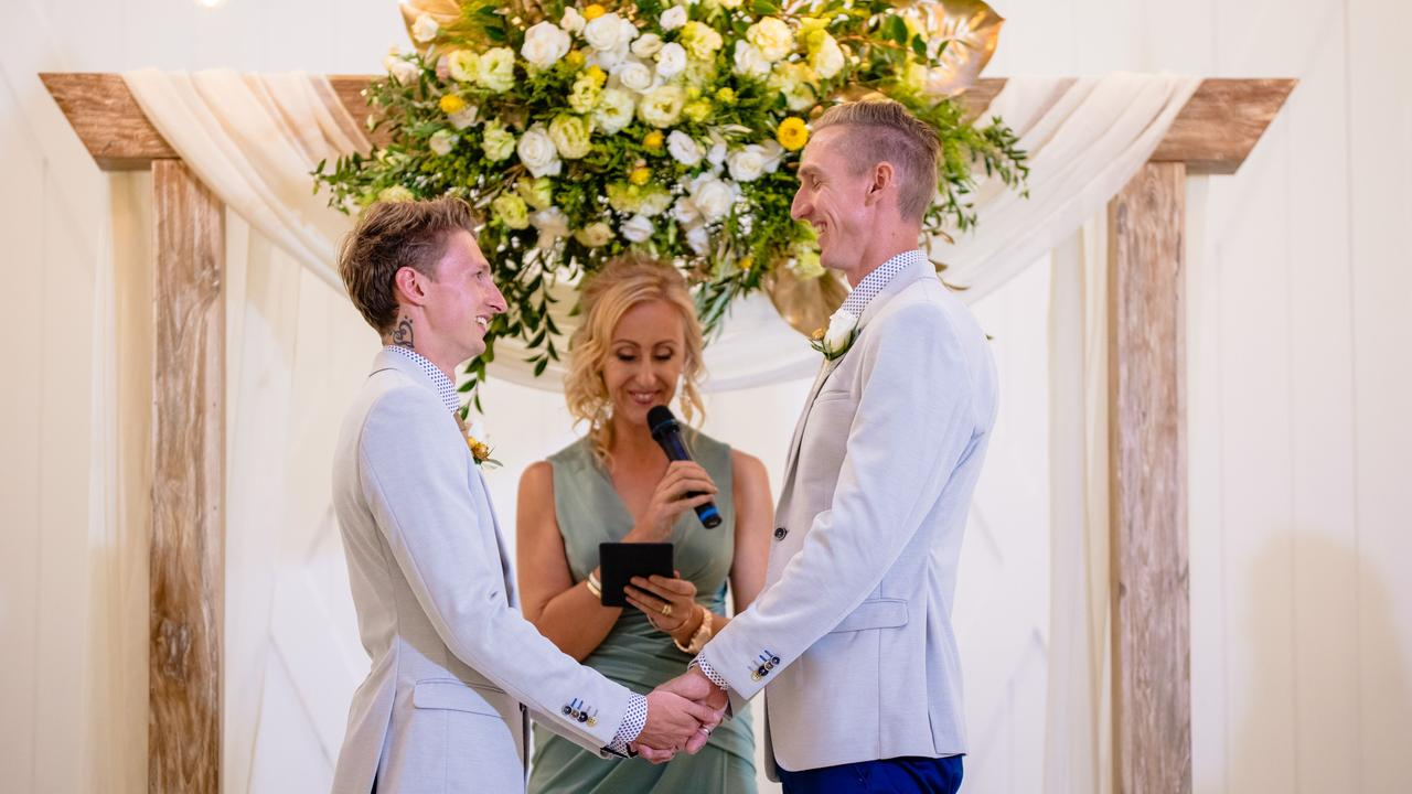 Craig Burns and Luke Sullivan were the first Queensland same sex couple to be married after the Marriage Amendment Act in 2017.