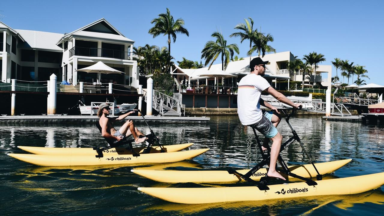 Pedal Paradise owners Dean Sanbrook and Jack Kilfoyle have launched the new tourism attraction business at Mooloolaba.