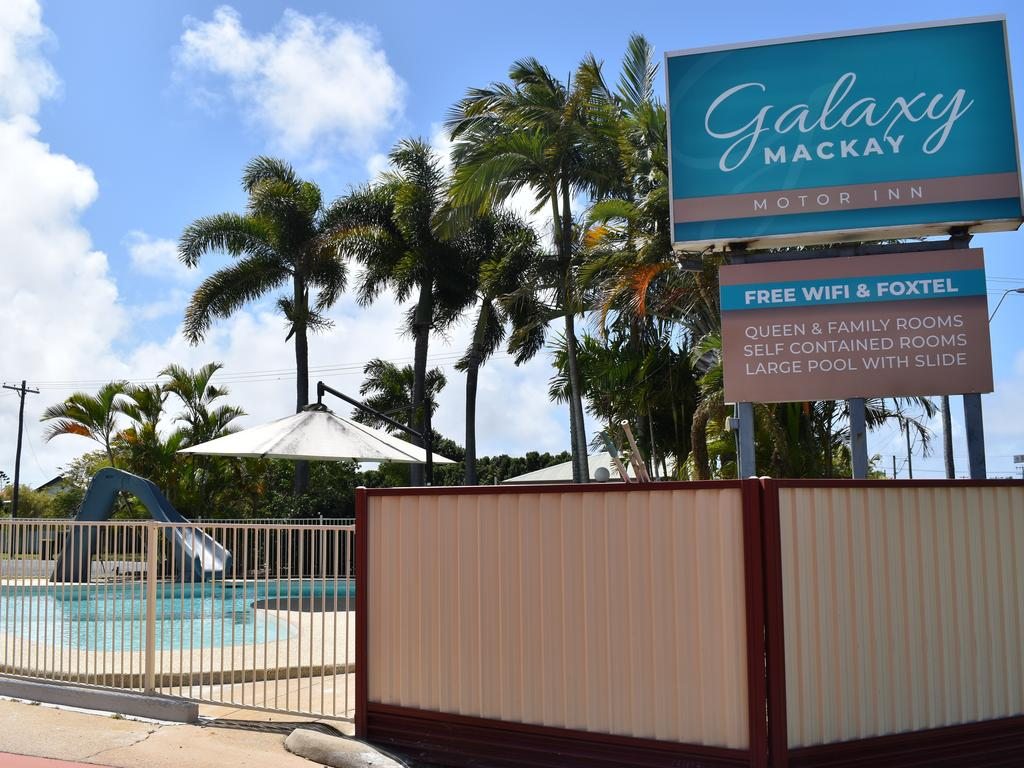 Galaxy Mackay Motor Inn on Nebo Rd, Mackay with the newly refurbished pool. Picture: Heidi Petith
