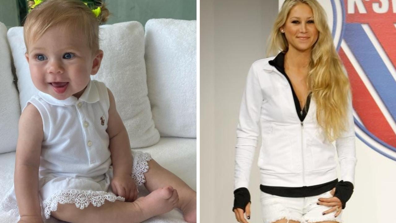Anna Kournikova let her daughter and camera do the talking as she showed a new side of her loved-up life as a parent.