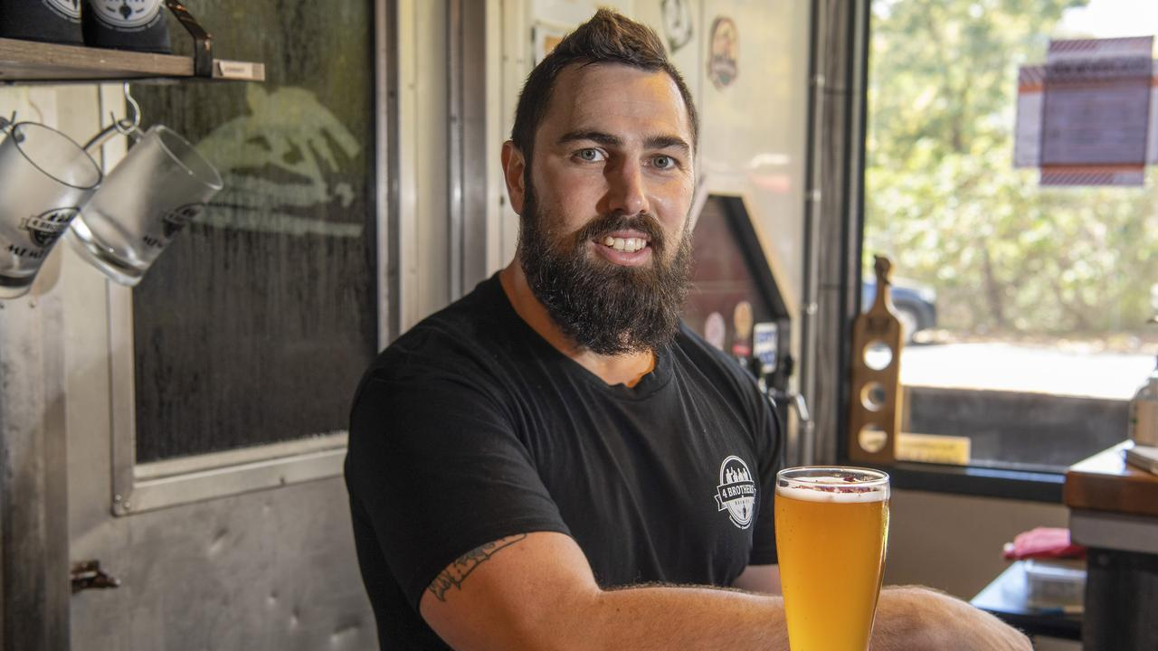 Adrian Cubit with a new rose flavoured beer from 4 Brothers Brewing. Friday. 18th Sep 2020