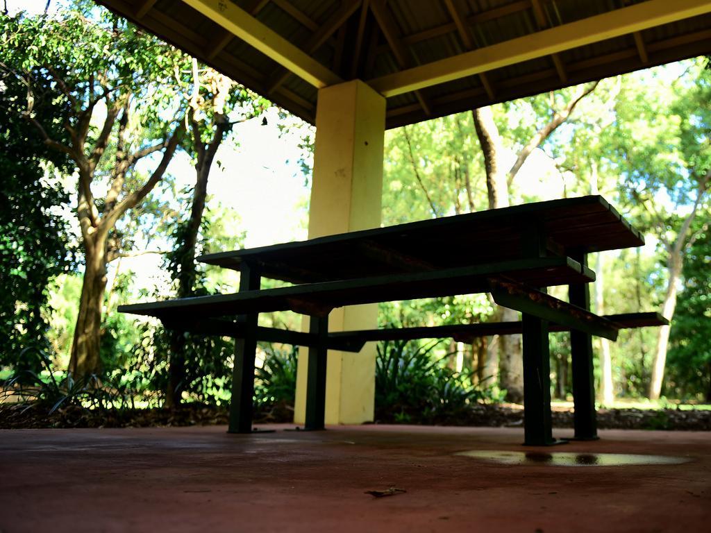 Moody park bench generic. Picture: Alix Sweeney