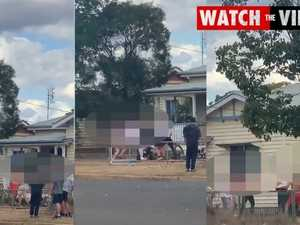 Kingaroy street brawl captured on camera