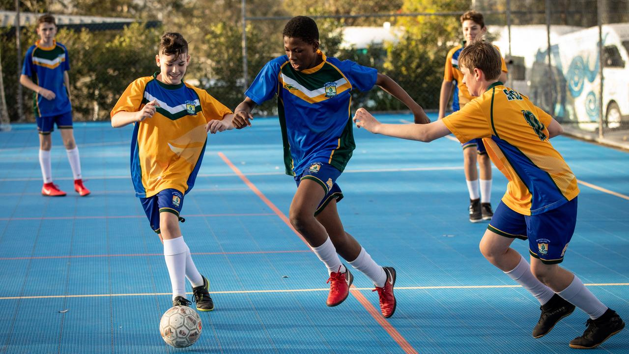St Peter Claver College is sending five of its eight futsal teams to the Southern Queensland Champions of Champions titles next month. Picture: Paul Harris
