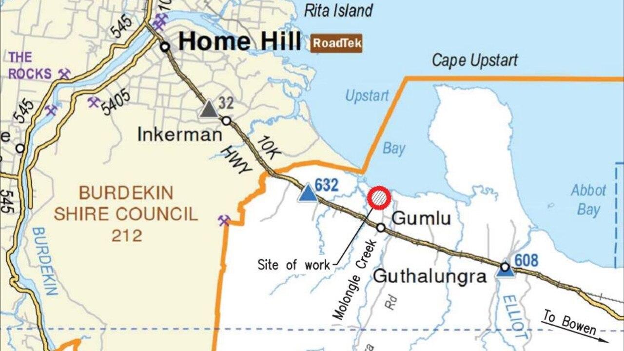 The facility is on Days Rd near Gumlu.