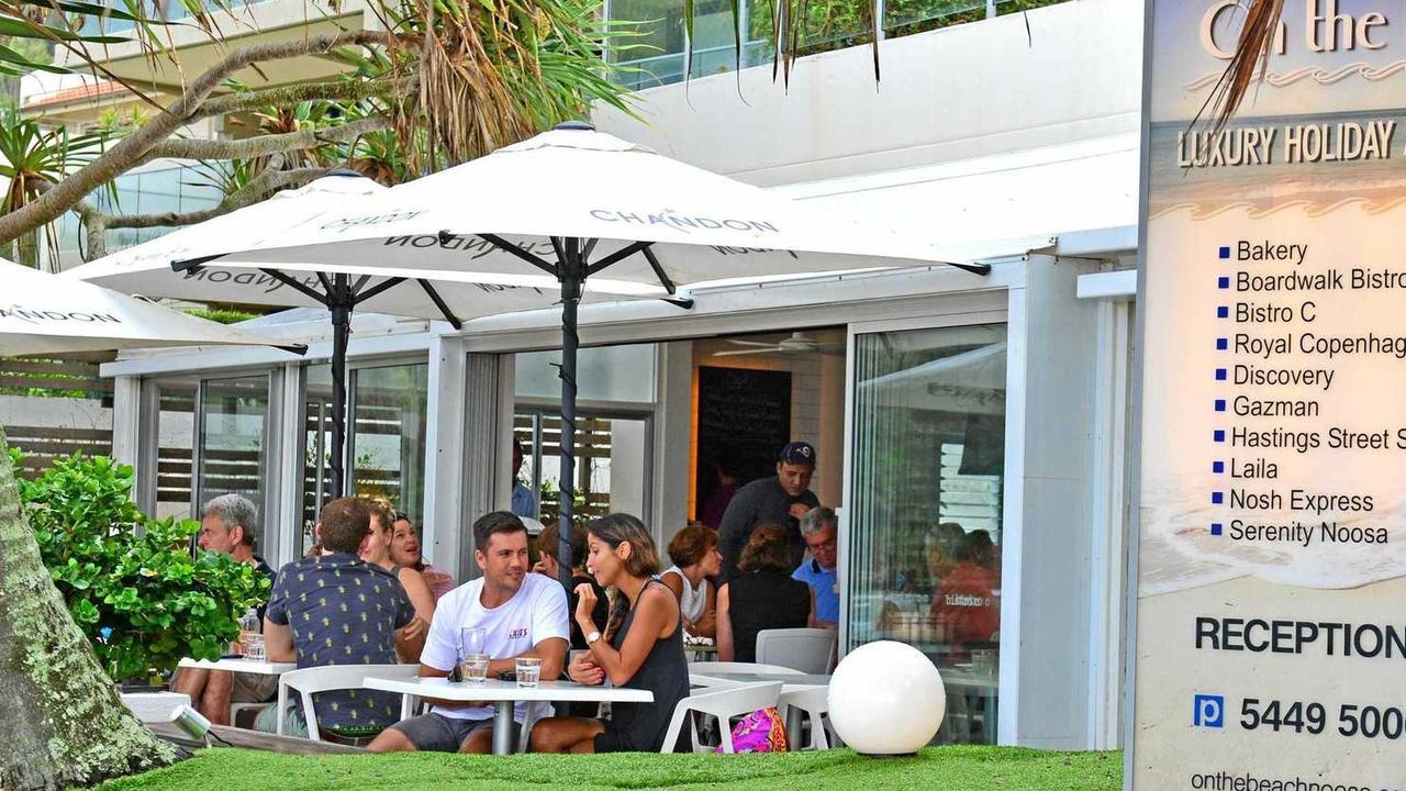The Bistro C artificial turf will be going but the beachfront dining area is staying.