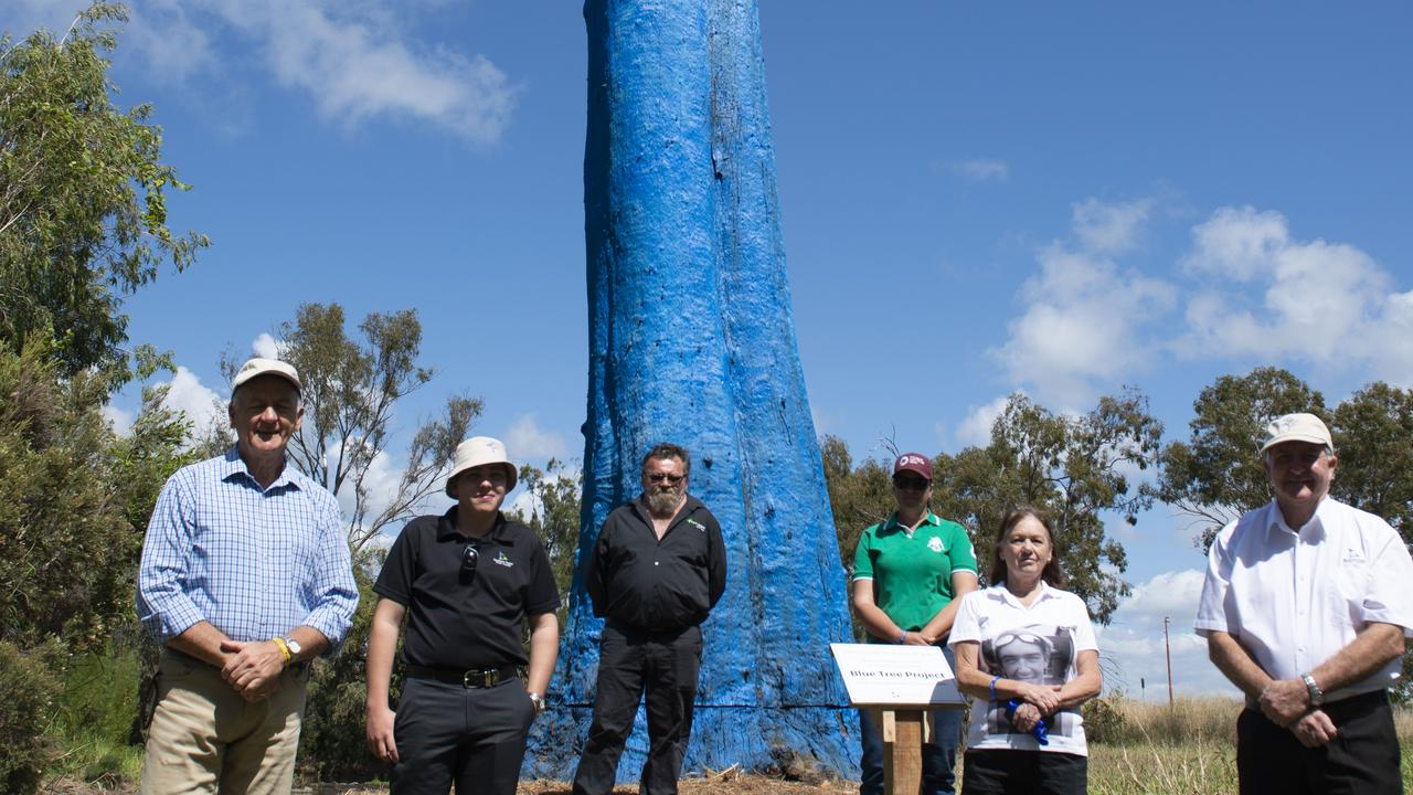 Gladstone Region Councillor Chris Cameron encouraged local schools and businesses to support the Blue Tree Project.