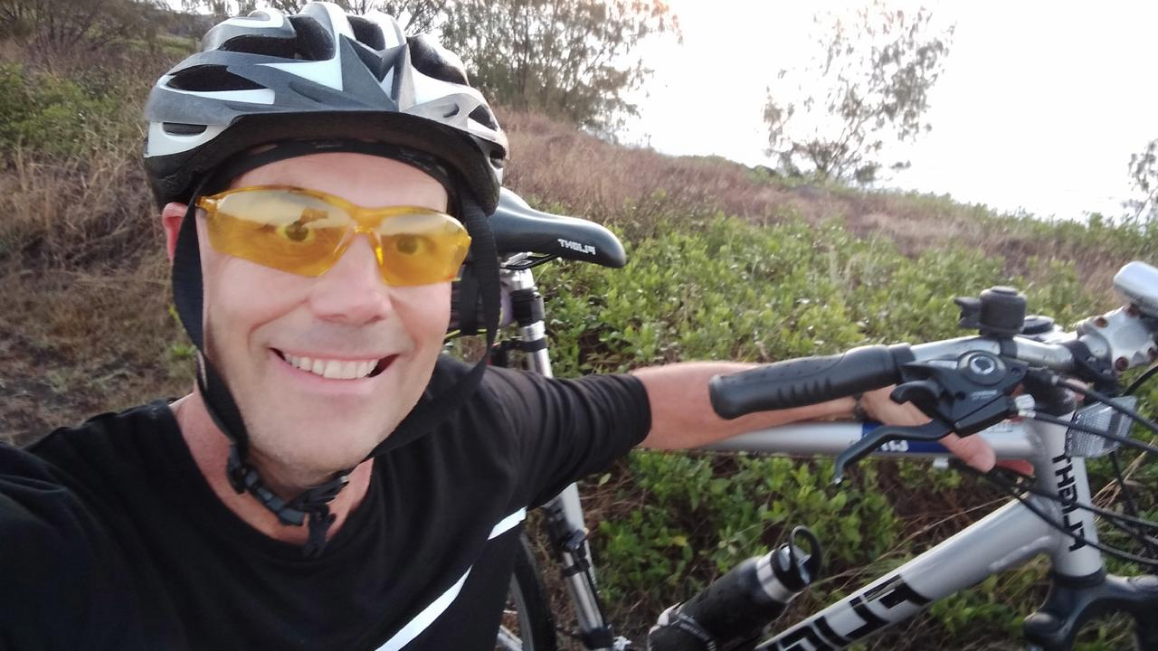 Mark Cassie is preparing to take on the Wesley Mission Queensland's 220km Cycle for Mental Health to raise money and awareness for the organisation's mental health and suicide prevention programs. Photo: Contributed.