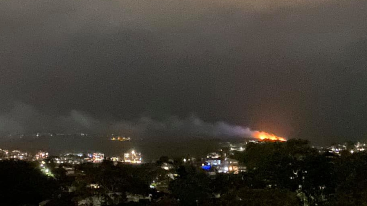 A major fire has broken out at North Head. Picture: Facebook