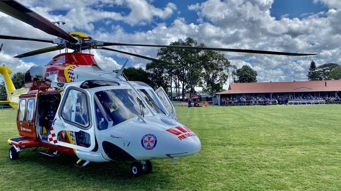 Husband, child saw injured female player flown to hospital