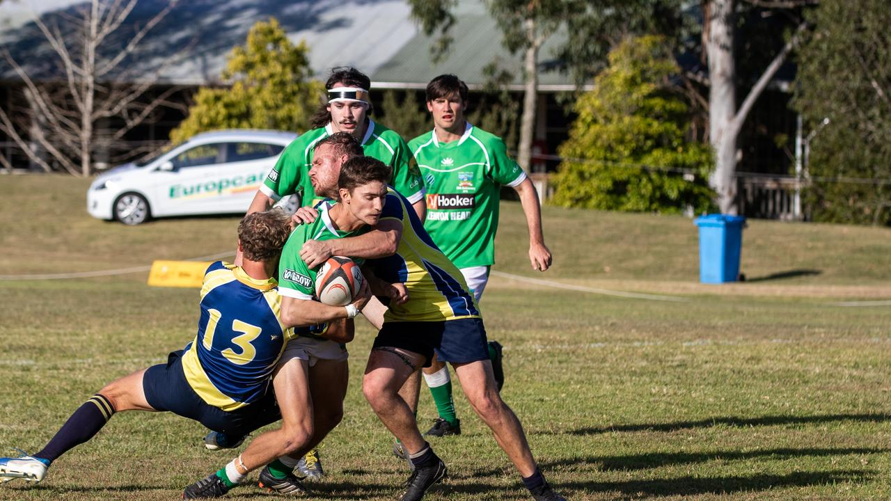In 2019 Lennox Head centre Callum Jones goes to the line against Casuarina in the FNC rugby union minor semi-final. Today the club will play first grade against Wollongbar Alstonville and Reserves against Balina.