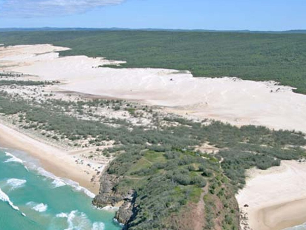 A 73-year-old woman is missing in dense scrub land on the Fraser Island after being detached from her group while hiking a popular tourist trail. Picture: Supplied
