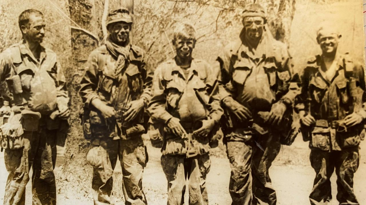 Barry Lansdown (2nd left) with his SAS colleagues in Vietnam