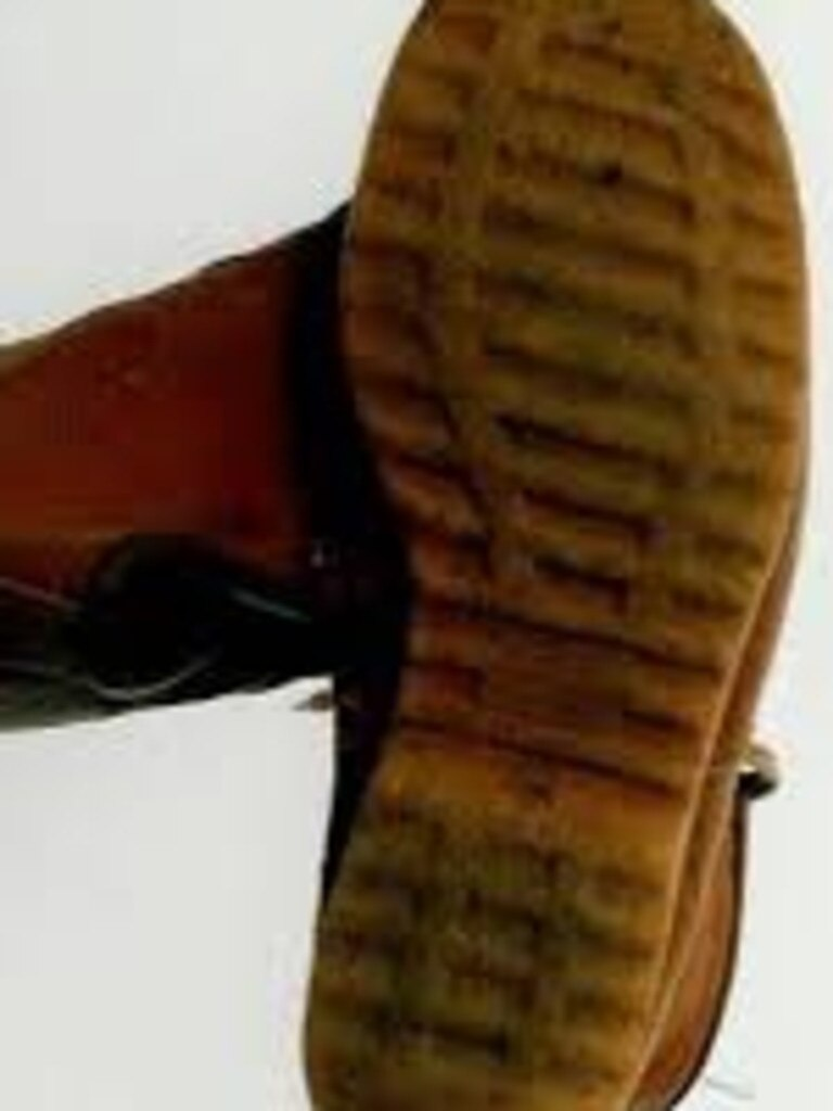 the prints of the boots bought by Schwab in Brisbane were identified at both murder scenes