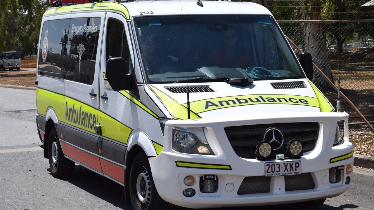 Ambulance and emergency services are treating a primary-school aged child with alleged first to second degree burns.