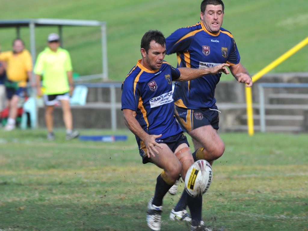 Noosa's Noel Goldthorpe, the little general in action for the Pirates. Photo: Iain Curry