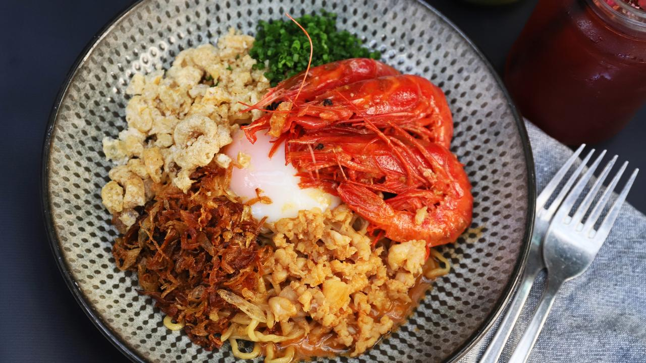 Uni and Scarlet prawns mie goreng. Picture: Jenifer Jagielski