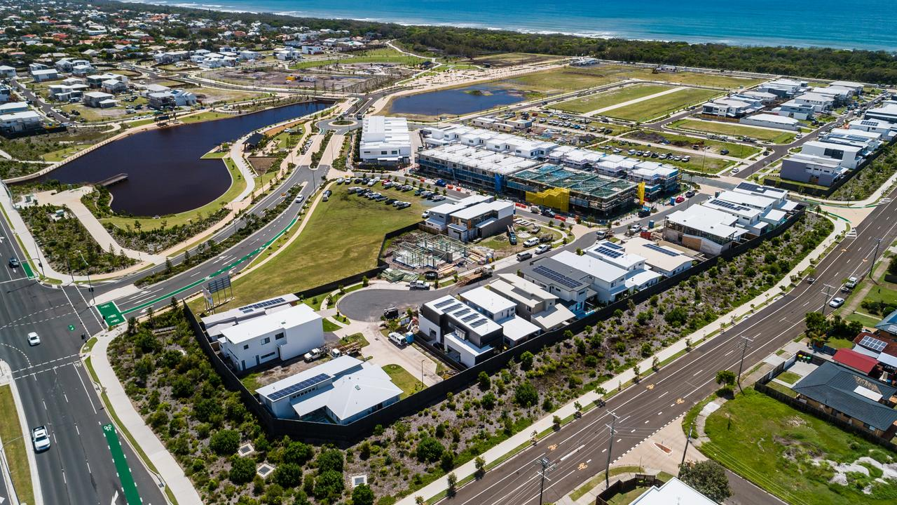 Stockland Oceanside project – Aerial of Bokarina Beach Development.