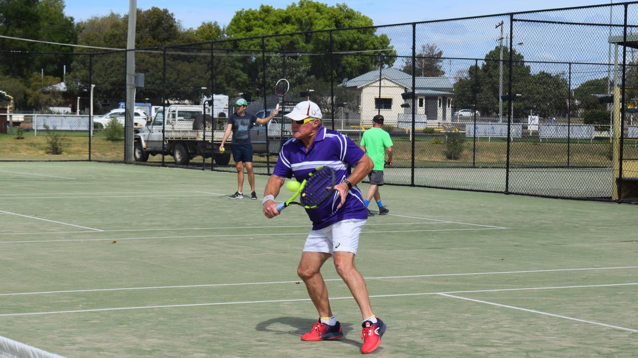 REGIONAL SPORT: Brad Hubbard at the Chinchilla Tennis Open Tournament - Saturday, September 19, 2020. Pic: Peta McEachern
