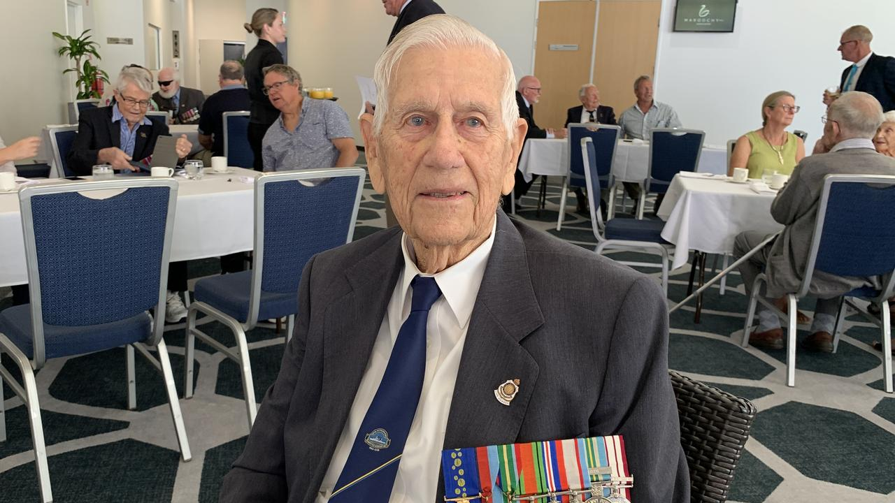 Allen Quartermaine was among the 20 veterans and their 41 guests at a morning tea at the Maroochy RSL Events Centre from 10.30 until 11.30am on September 18. Picture: Supplied