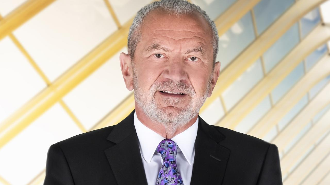 Lord Alan Sugar managed to get a flight into Sydney amid strict flight caps. Picture: Channel 9