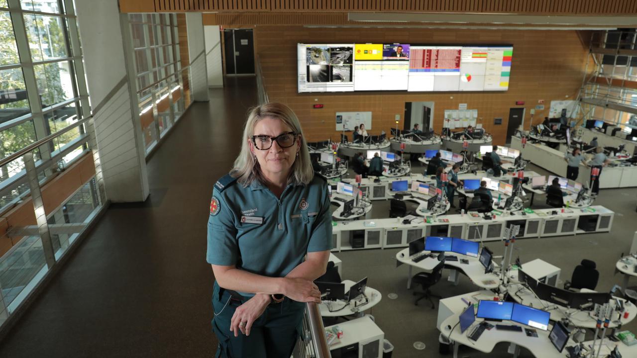 Sandra Garner at the ambulance headquarters at Kedron. Picture: Mark Cranitch.