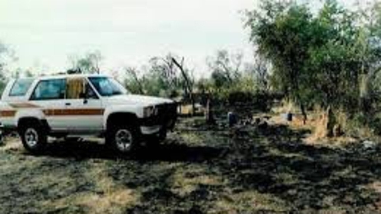 Schwab's car at the Fitzroy Crossing site where he was shot Photo: WA Police