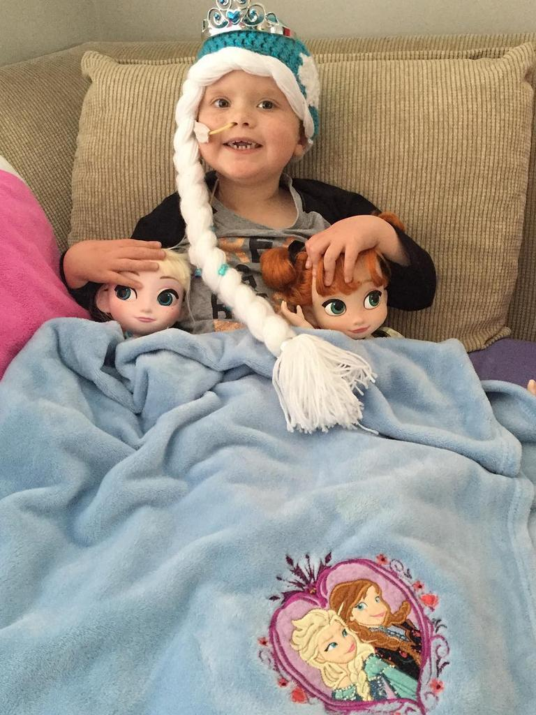 Ivy Hyde with her princess dolls while she fought leukaemia.