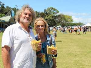 Darryl Bartlet and Julie Conner having some lunch.