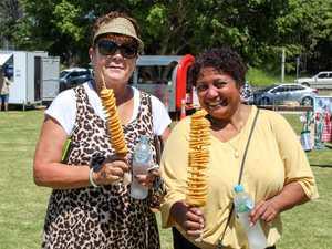 Diane Johnson and Lemba Hooper eating Tornado