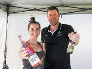 Zoe Young and Josh Phillips running their stall Ohana