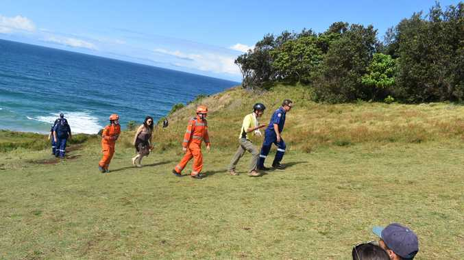 Hang glider walks away from crash at popular lookout