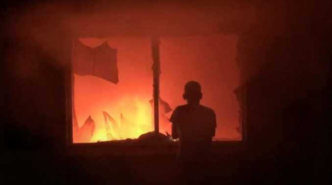Children in hospital after family flees house fire