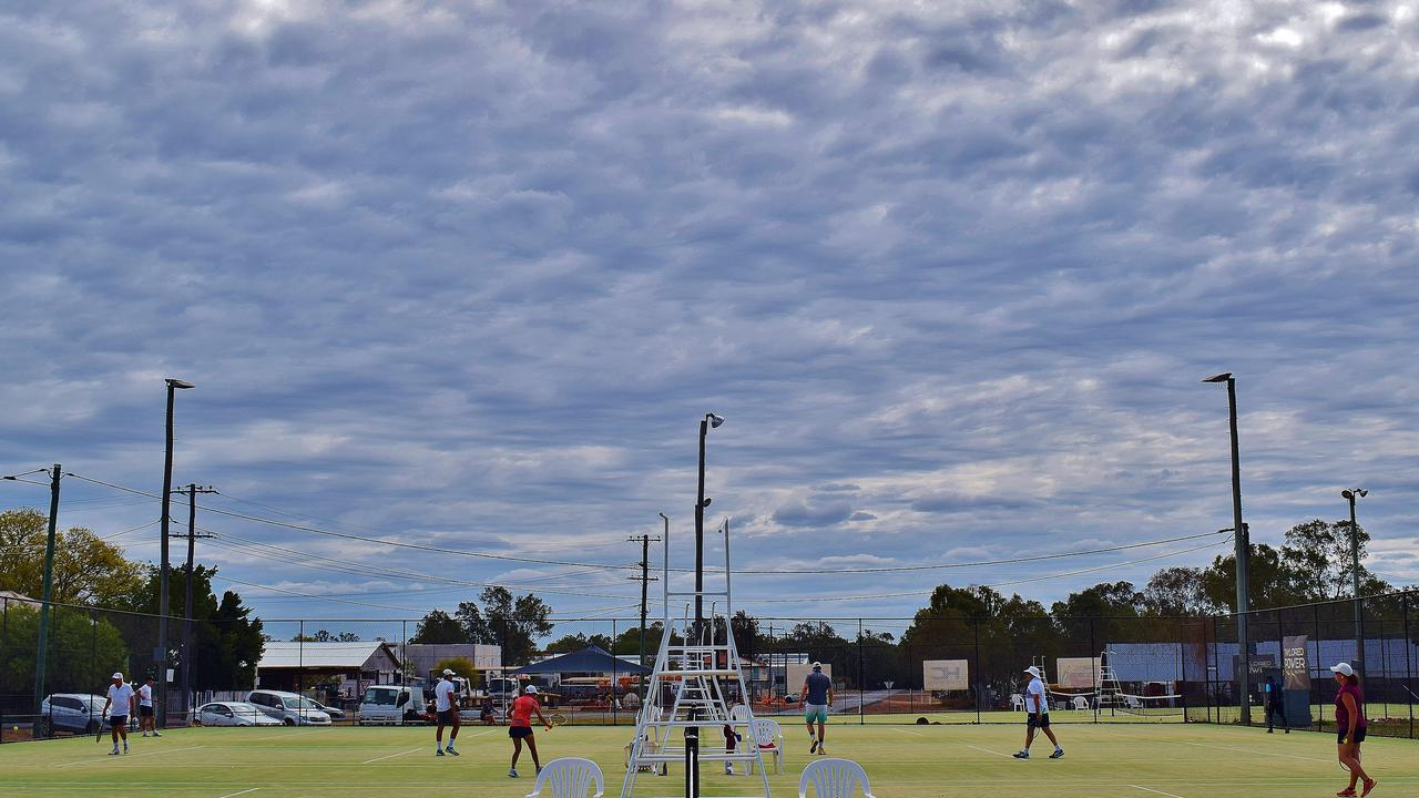 RAIN: Rain clouds building to the west of Chinchilla, at the Chinchilla Tennis Opens Tournament on Saturday, September 19. Pic: Peta McEachern